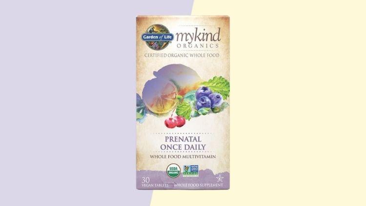 Best Vegan Multivitamin For Pregnancy is Garden of Life Mykind Organics Prenatal Vitamins