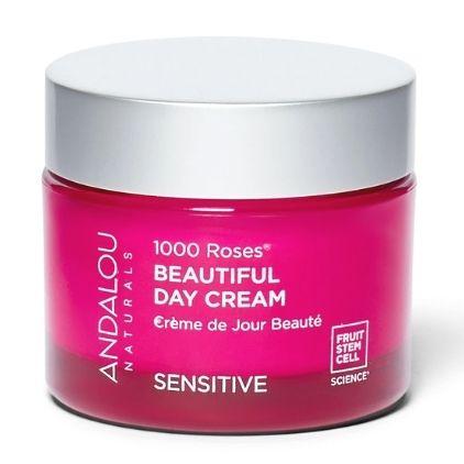 Andalou Naturals 1000 Roses Beautiful Day Cream Vegan Moisturizer For Sensitive Skin