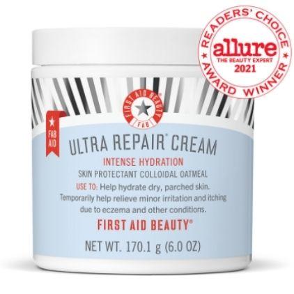 First Aid Beauty Ultra Repair Cream Vegan Moisturizer For Dry Skin
