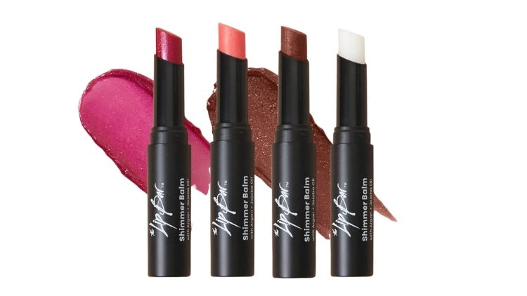 TLB Tinted Shimmer Balm Vegan Lip Balm Set