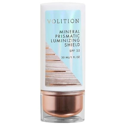Volition Mineral Prismatic Luminizing Shield SPF 35 Vegan Sunscreen For Combination Skin